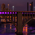 Minneapolis In Purple 4 - Wide Crop by Bill Pohlmann