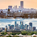 Minneapolis Skylines - Old And New by Mike Evangelist