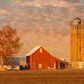 Minnesota Farm At Sunset by Patti Deters