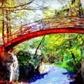 Minnewaska Wooden Bridge by Janine Riley