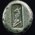 Minotaur On A Greek Coin by Granger