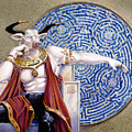 Minotaur With Mosaic by Melissa A Benson