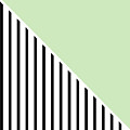 Mint And Black Geometric by Linda Woods