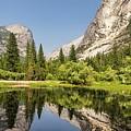 Mirror Lake Reflection At Yosemite by Michael Tidwell