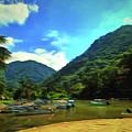 Mismaloya River Fishing Boats 0344 by Lola VJ