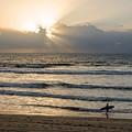 Mission Beach Surfer by Susan McMenamin