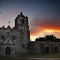 Mission Concepcion At Sunrise by Melany Sarafis