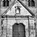 Mission Concepcion Entrance - Bw by Stephen Stookey