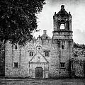 Mission Concepcion San Antonio Bw by Joan Carroll