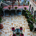Mission Inn Chapel Court Yard  by Tommy Anderson