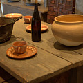 Mission San Juan Capistrano Bottles And Bowls by Brad Scott