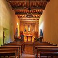 Mission San Juan Capistrano Chapel Vertical by Joan Carroll