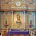 Mission San Miguel Arcangel Altar, San Miguel, California by Denise Strahm