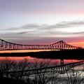 Mississippi River At Savanna by David Bearden