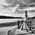 Mississippi River Daydreams Bw by Mel Steinhauer