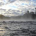 Mississippi River Mist Over Rushing Water by Kent Lorentzen