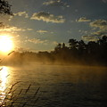 Mississippi River Sunrise Fog by Kent Lorentzen