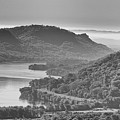 Mississippi River Valley At Winona Black And White Yearous by Kari Yearous
