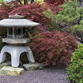 Missouri Botanical Garden A Japanese Snow Viewing Lantern Spring Time Dsc01783 by Greg Kluempers