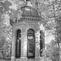 Missouri Botanical Garden Henry Shaw Crypt Infrared Black And White by Jane Linders