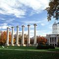 Missouri Columns And Jesse Hall by University of Missouri