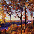 Missouri River In Fall by David Lloyd Glover