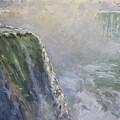 Mist At Horseshoe Falls  by Ylli Haruni