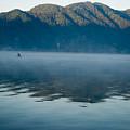 Mist On Lake Atitlan Guatemala by Douglas Barnett