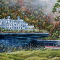 Mist Over Kylemore Abbey by Avril Brand