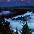 Mist Over Snake River, Sunrise Light by Panoramic Images