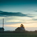 Mist Rises Over The Barn Houses by Jukka Heinovirta