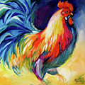 Mister Show  Rooster Art by Marcia Baldwin