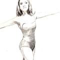 Misty Ballerina Dancer II by Lee McCormick