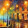 Misty City by Leonid Afremov
