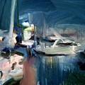 Misty Harbor by Bob Dornberg