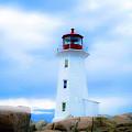 Misty Lighthouse - Peggy's Cove by SBrousseau