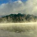 Misty Morning Lake by Sam Davis Johnson