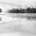 Misty Morning At Loch Ard by Janet Burdon