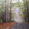 Misty Morning Road by Ken Ahlering