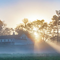 Misty Morning Sunrise - Valley Forge by Bill Cannon