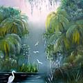 Misty Morning Swamp by Darlene Green