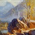 Misty Rocks by Elena Sokolova