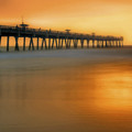 Misty Seas At Jacksonville Beach Pier - Florida - Landscape - Seascape by Jason Politte