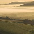 Misty South Downs by Hazy Apple