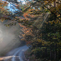 Misty Turn In The Road by Jeff Folger