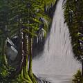 Misty Waterfall by Alta De Jager