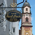 Mittenwald Cafe Sign by Carol Groenen