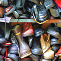 Mix Of Shoes Nyc by Chuck Kuhn