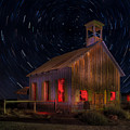 Moab Schoolhouse Star Trails by Jerry Fornarotto