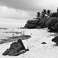 Moalboal Cebu White Sand Beach In Black And White by James BO  Insogna